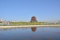 榆林河滨公园风景