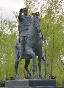 雕塑作品瓦勒骑士