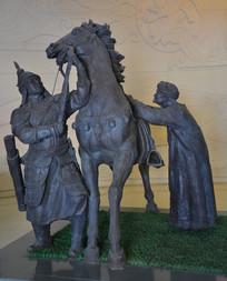 雕像蒙古骑士