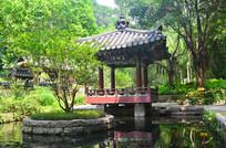 古典亭子园林建筑风景