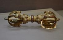 文物佛教铜降魔杖