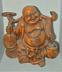 文物木雕财运弥勒佛