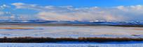 冰封的草原风景 全景高清