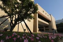 华科大图书馆的清晨阳光