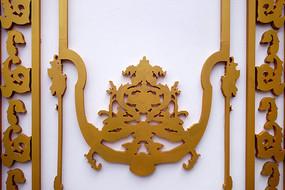 俄罗斯风格的建筑装饰木刻图案