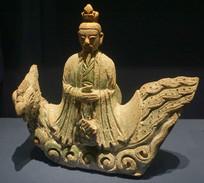 古代建筑构件琉璃仙人骑鸡