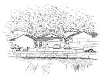 客家建筑线描稿
