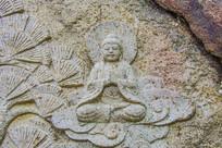 千山中会寺壁雕弥勒经变图之弥勒佛
