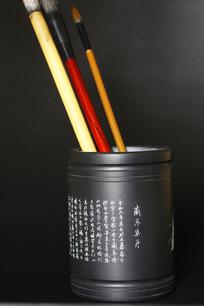 手工雕刻兰亭集序石质笔筒