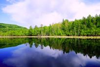 蓝色湖泊风景