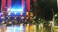 雨后的清镇红枫北路夜景
