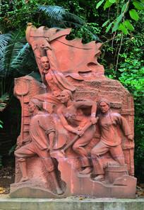 战争人物雕塑图片