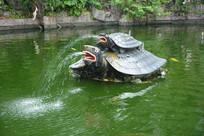 喷绘的海龟雕塑