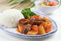 萝卜牛腩饭套餐