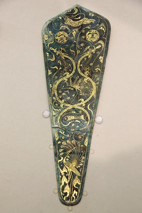 西汉凤凰纹铜当卢