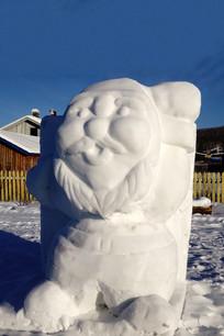 雪雕圣诞老人