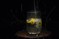 徽州黄菊玻璃杯冲泡