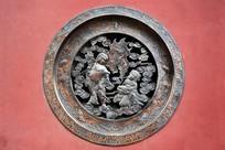 浮雕铜窗饰