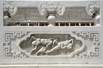 汉白玉浮雕藏式纹样