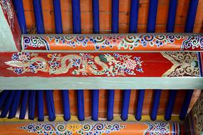 呼市五塔寺建筑彩绘