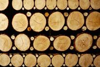 木饼装饰的吊顶