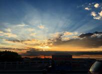 夕阳晚霞天空