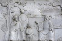 浮雕石刻游学图