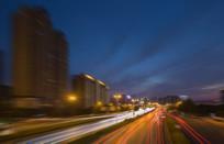 城市夜景车流