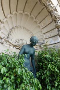 欧洲古典户外雕塑