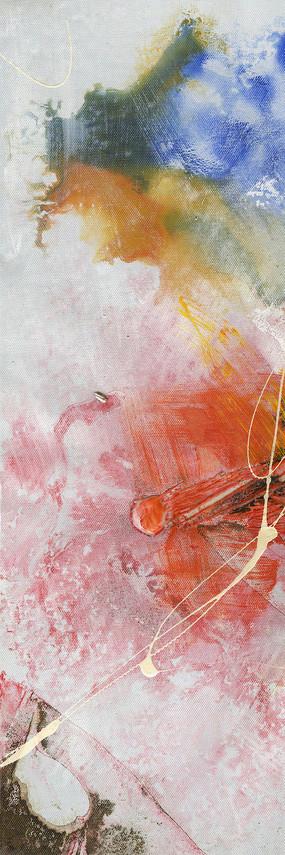 抽象油画玄关画