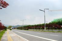人行道和多车道马路
