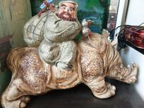 神仙骑牛手工艺品图片
