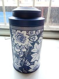 青花瓷茶罐图片