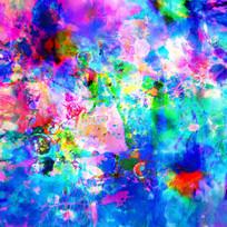 现代装饰画 染色玻璃 背景