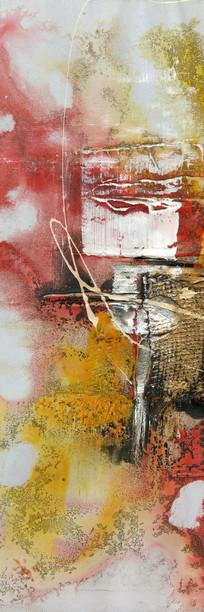 抽象 玄关背景墙 端景壁画