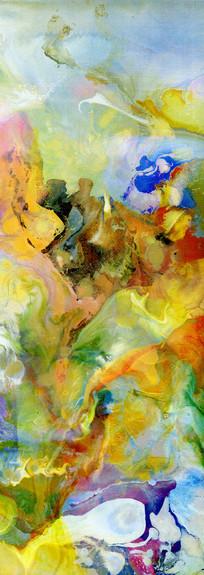 水墨 流彩 抽象油画