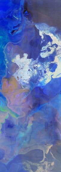 水墨流彩装饰画背景墙壁画