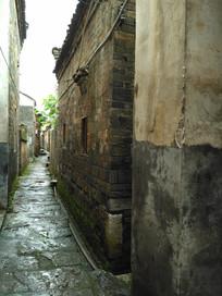 明清房子青砖石板小路巷子