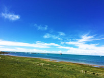 青海湖的港湾