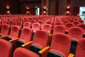 电影城剧院红色座椅
