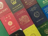 多种国家和地区的护照