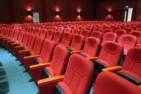 国际电影城剧院红色座椅