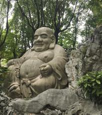苏州报恩寺的弥勒佛石像