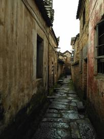 深远的青砖石板小路巷子