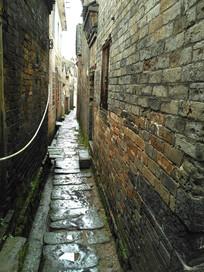 悠久的老房子青砖石板小路巷子