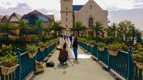 在惠州哈施塔特小镇拍婚纱照
