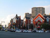 哈尔滨夕阳现代建筑