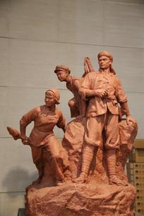 红色革命英雄雕像
