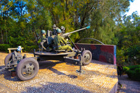金门国家公园的高射炮