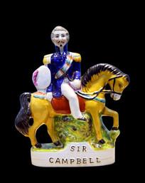 英国彩绘人物塑像